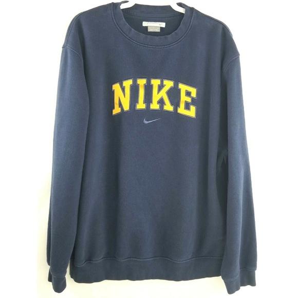 90's Crewneck Pullover Vintage Nike L Sweatshirt 5Rj3q4AL